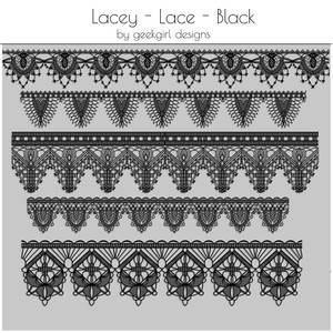 Lacey Lace Black by geekgirl design