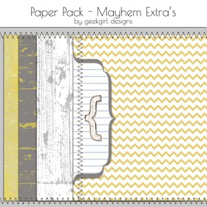 Mayhem Extra Paper Pack by geekgirl designs