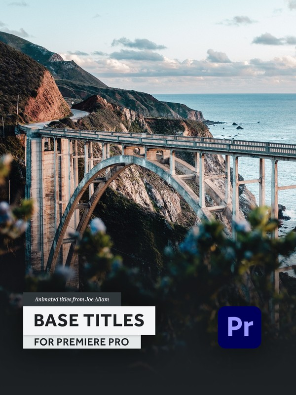 BASE TITLES — Animated Title Templates for Premiere Pro (mogrt)