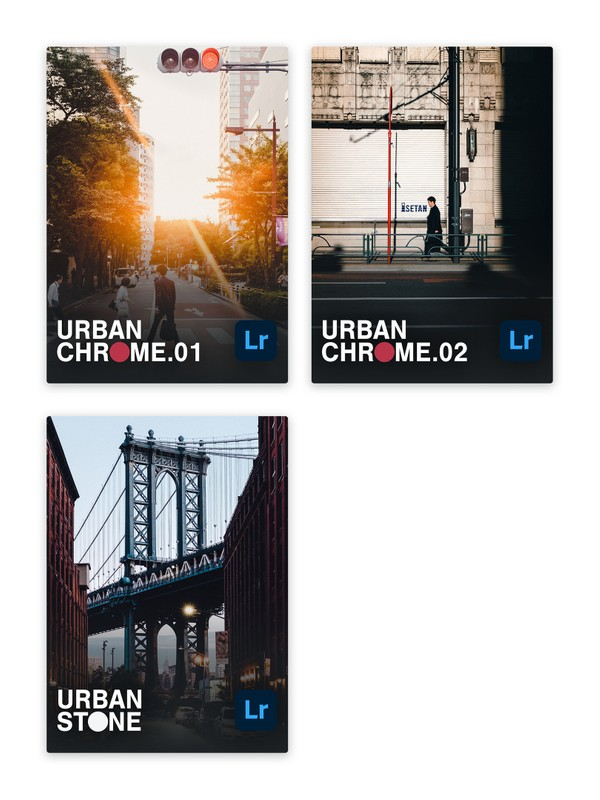 The Photographer's Combo (URBAN CHROME vol.1+2 & URBAN STONE)