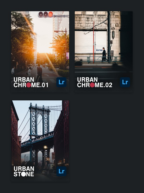 The Photographer's Combo (URBAN CHROME vol.1+2 & URBAN STONE)