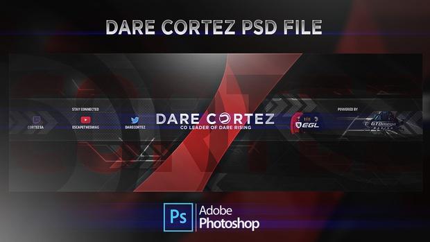 Dare Cortez Header PSD File