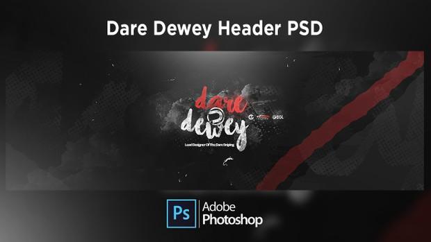 Dare Dewey Header PSD - FREE