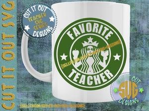 Favorite Teacher Starbucks Logo Design 4