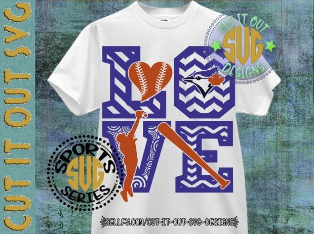LOVE Baseball - Blue Jays SVG Cutting File