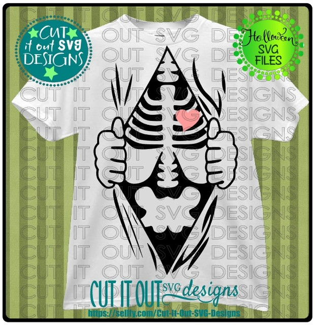 Ripped Shirt - Skeleton - SVG Cutting File for vinyl, T-shirts, wood signs , coffee mugs