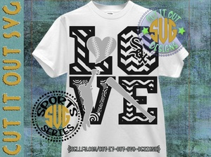 LOVE Baseball - Chicago White Sox SVG Cutting File