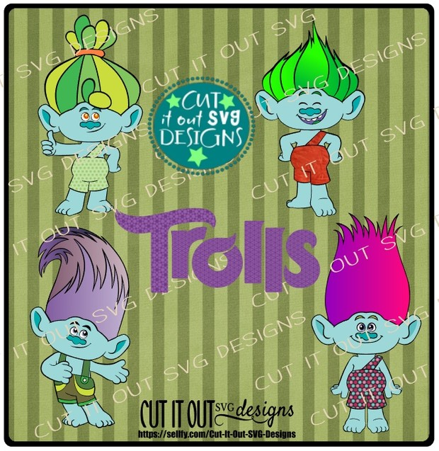 Trolls Movie Charcters Branch - SVG Cutting File perfect for vinyl, scrapbooking, T-shirts