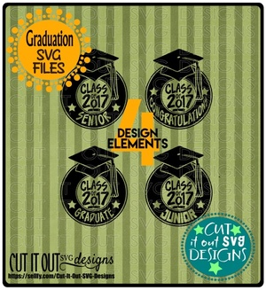 Graduate SVG Class of 2017 Congratulations layered Cutting File for vinyl, htv, sublimation