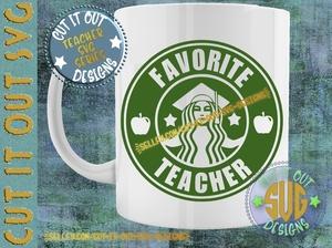 Favorite Teacher Starbucks SVG Logo Design 1