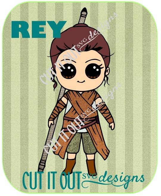 Star Wars: The Force Awakens REY From Star Wars SVG File