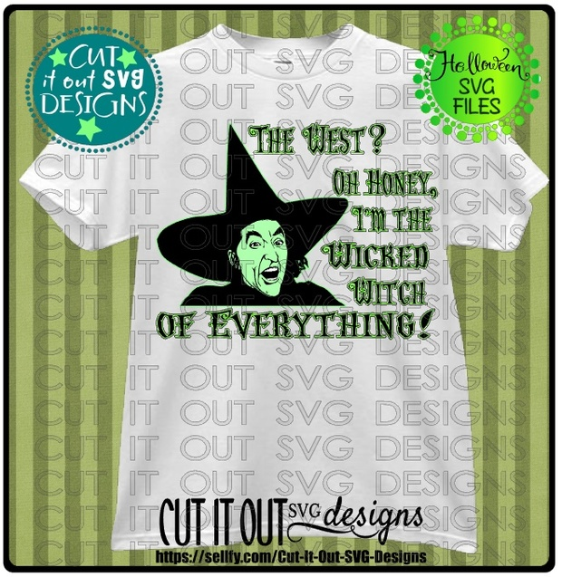 Wicked Witch of the West - SVG Cutting File for vinyl, T-shirts, wood signs , coffee mugs