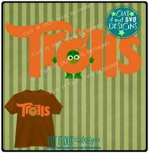 Troll Peeking Title - SVG Cutting File perfect for vinyl, scrapbooking, T-shirts