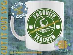 Favorite Teacher Starbucks Logo Design 2