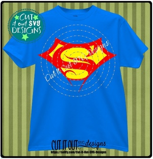 Stylized Superman Crest SVG cut File for Decals or Tshirts, Coffee Mugs, Koozies etc