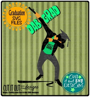 2017 Dabbing Graduate SVG layered Cutting File for vinyl, htv, sublimation