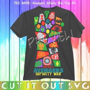 Avengers Infinity War Pop Art SVG Cutting Layered Design File for HTV or Vinyl or scrapbooking fun!