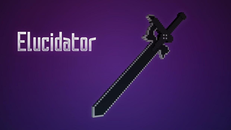 Elucidator Sword Minecraft Rig Sword Art Online Kirito Sword