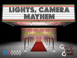 Lights, Camera, Mayhem - Murder Mystery Dinner Party Game (7 players)