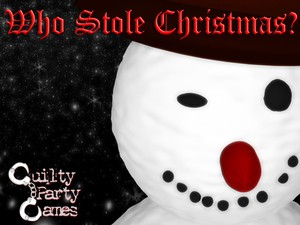 Who Stole Christmas? - Mystery dinner party game for 6 players