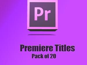 Adobe Premiere Titles Pack of 20 plus a bonus code