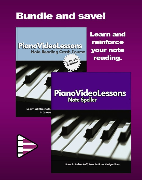 Note Reading Bundle for Learning to Read Piano Music