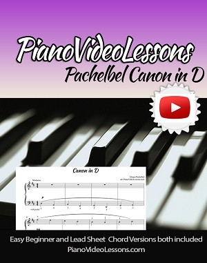 Pachelbel Canon in D - Sheet Music and Practice Sheet  Single