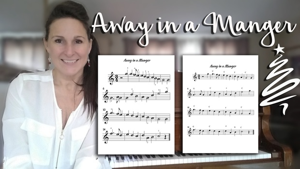 Away in a Manger Sheets - Beginner Piano and Easy Chord Versions