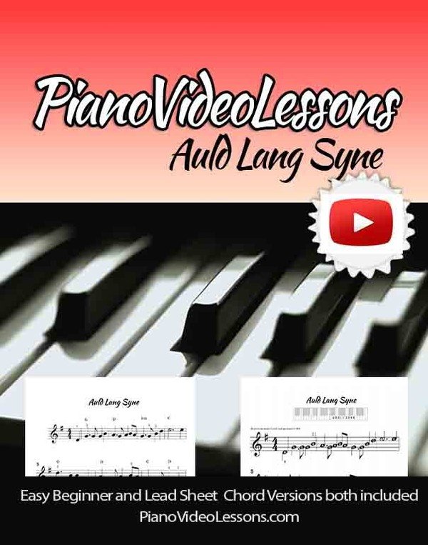 Auld Lang Syne -piano sheets - Easy Beginner and CHORD lead sheets included