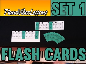 Piano Flashcards for beginners - Set 1