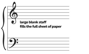 Large Blank Staff