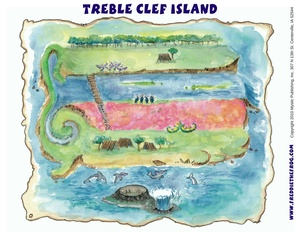 Treble Clef Island Map (Poster Size Resolution)