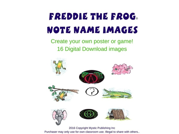 Freddie the Frog® Note Name Images