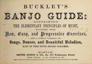 7 Great Banjo Tunes in TAB from Buckley's 1868 Publication