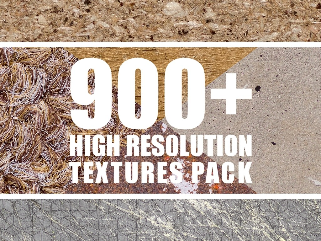 Texture Pack - 900+ High Resolution Textures + Seamles - Giles Hodges