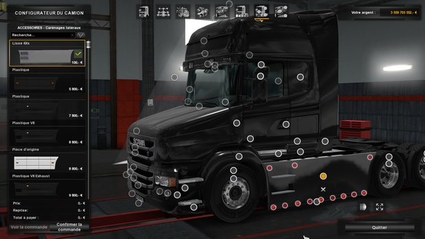 Scania T (RJL): Carénages Lisses