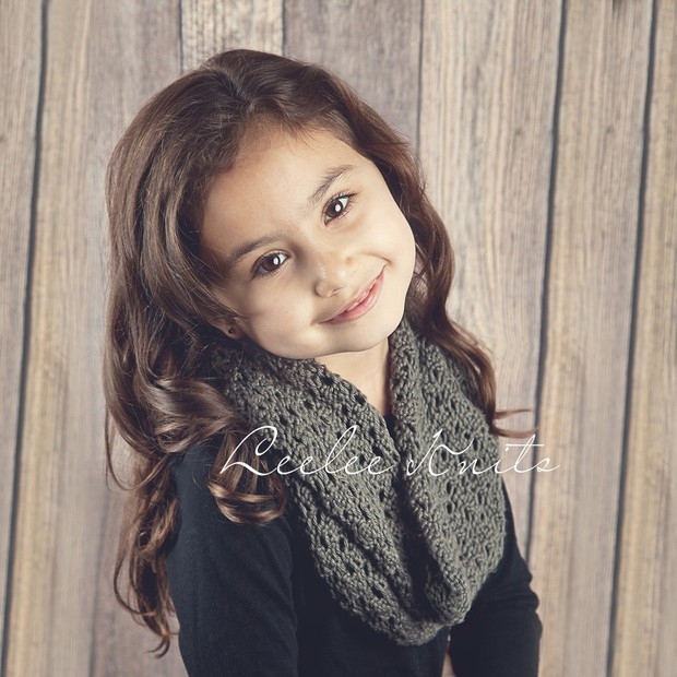 Pattern Lace Infinity Knit Scarf Pattern For Child A Leelee Knits