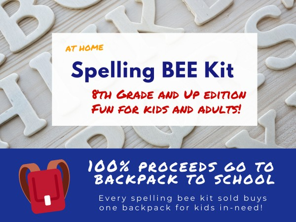 Teen + Adult Spelling Bee Kit (8th+ Grade Edition)