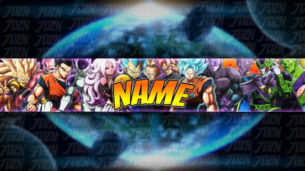 *NEW* DBFZ YouTube Banner Template [Dragon Ball 2018] - JDZN