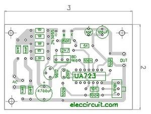 PCB Layout of 0-30V 3A Adjustable DC Supply