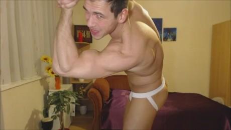Muscle God Mark Hot jock Flexing