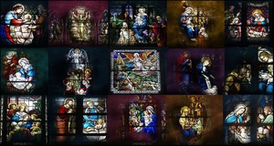 17 Stunning Stained-Glass Windows - HD Christmas Wallpapers