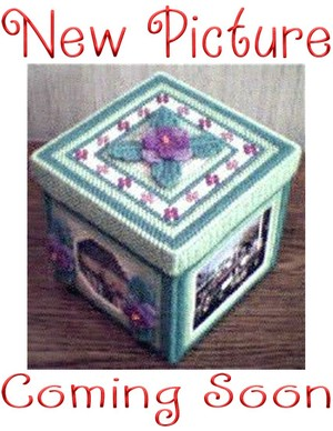 071 - Sweet Violets Photo Trinket Box