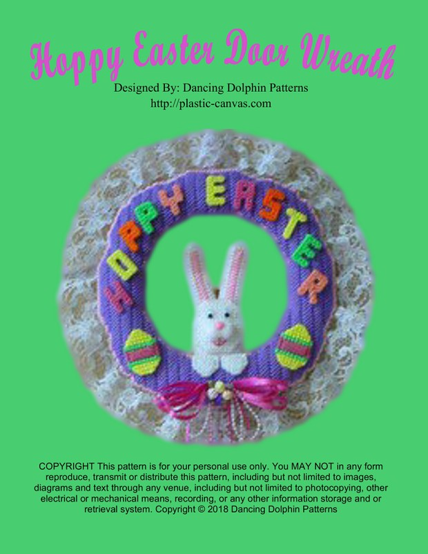 036 - Hoppy Easter Door Wreath