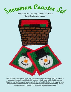 504 - Snowman Coaster Set
