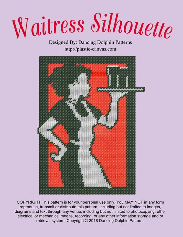 552 - Waitress Silhouette