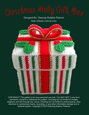 375 - Christmas Holly Gift Box