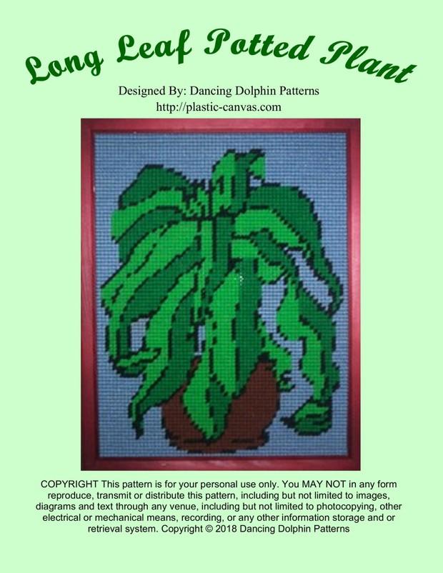 516 - Long Leaf Potted Plant