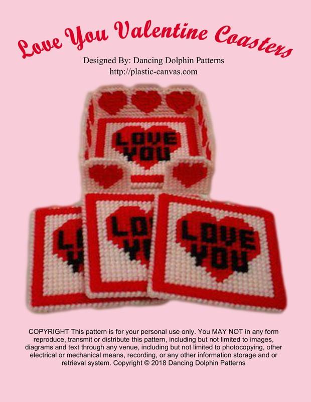 344 - Love You Valentine Coasters