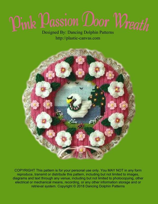 087 - Pink Passion Door Wreath